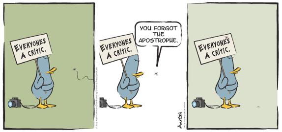 Everyones a critic cartoon