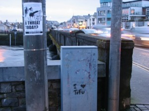 Stan Carey - Fascism & tofu at Wolfe Tone Bridge, Galway