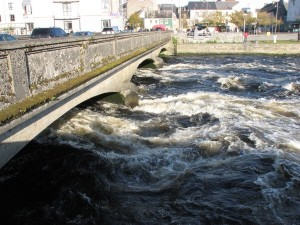 Stan Carey - River Corrib under Wolfe Tone Bridge