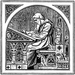 Medieval writing desk