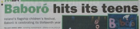 Stan Carey - Baboro hits its teens - headline