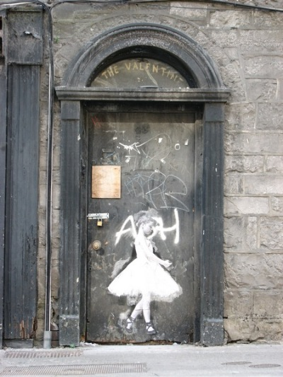 graffiti - dancer on the door, Dominick St. (medium) - Stan Carey
