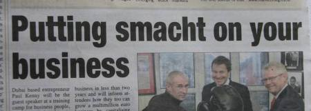 Galway Advertiser 16.01.2013 - Putting smacht on your business - headline
