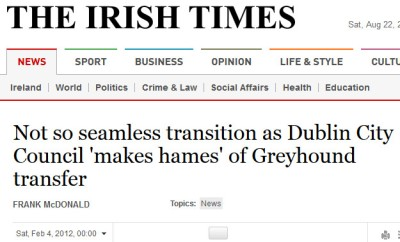 irish times headline - make a hames of it phrase
