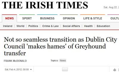 irish times headline - make a hames of it phrase