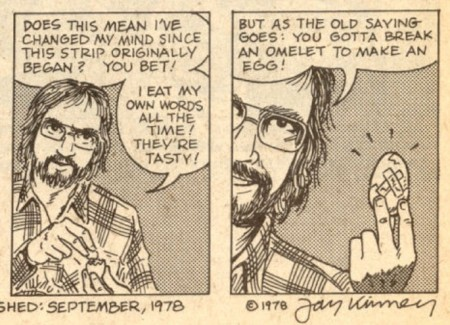 Jay Kinney - eating words - Anarchy Comics 1, 1978