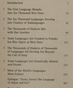 John McWhorter - Power of Babel - chapter titles