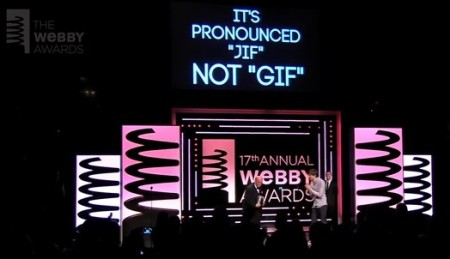 It's pronounced 'jif' not 'gif' - Steve Wilhite at 2013 Webby Awards
