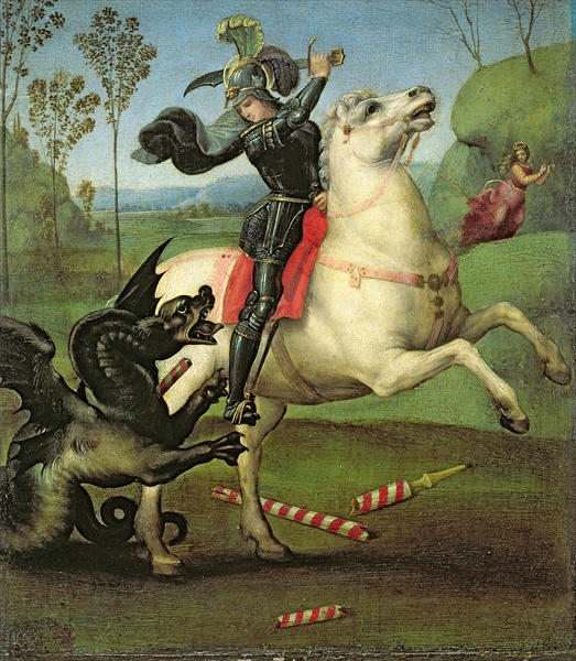 St George Painting Raphael S Painting