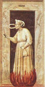 Giotto di Bondone - Envy, Invidia