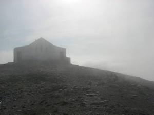 stan carey - croagh patrick mountain climb - summit, chapel