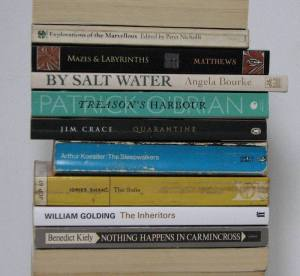 stan carey - book spine poem - treason's harbour