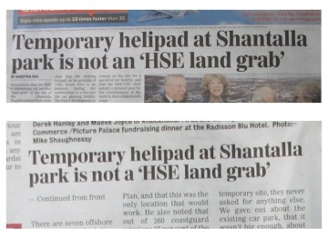 galway advertiser newspaper headline 14 nov 2013 - a hse, an hse