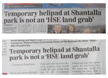 galway advertiser newspaper headline 14 nov 2013 - a hse, an hse
