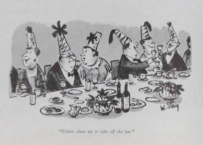 New Yorker cartoon 3 - William Steig - either cheer up or take off the hat