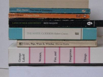 stan carey - bookmash book spine poetry - a pagan place