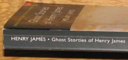 Ghost storties (sic) of Henry James - Wordsworth Editions, typo on spine