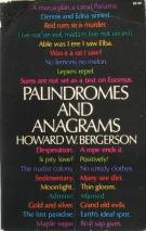 palindromes and anagrams - howard w bergerson, book cover