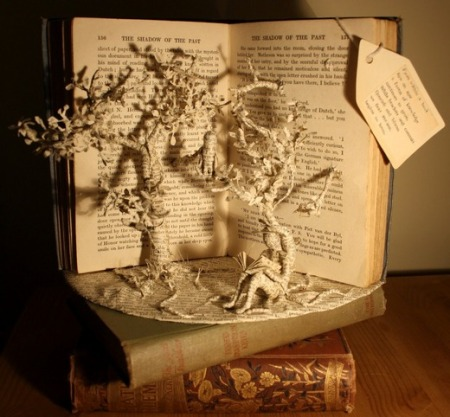 Emma Taylor - book sculpture - Shadow of the Past