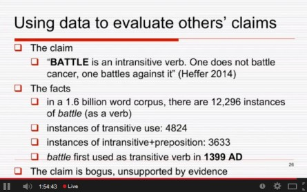 michael rundell - british council seminars - language learning - using data vs claims