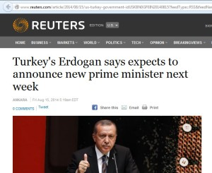 reuters headline - says expects to announce