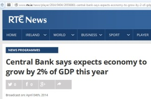 rte news - central bank says expects