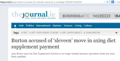 TheJournal.ie - Burton headline 'sleveen move'