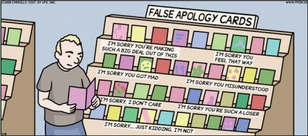 false apology cards - Tony Carrillo F minus comics