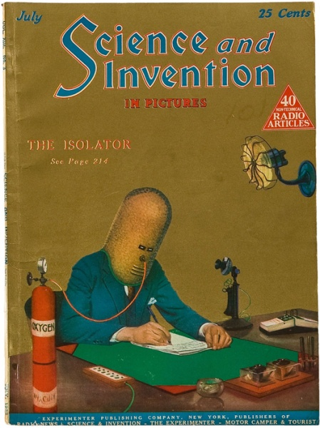 Science and Invention Magazine - The Isolator by Gernsback 1920-304