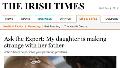 irish times headline - baby making strange