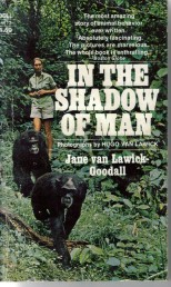 Jane van Lawick Goodall - in the shadow of man - book cover
