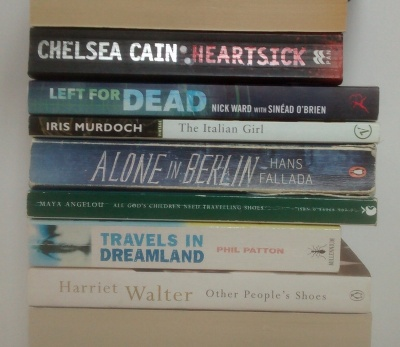 stan carey book spine poem - travelling shoes