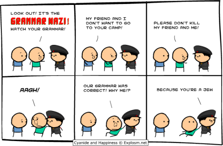 cyanide and happiness - explosm - grammar nazi comic strip