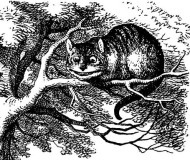 john tenniel cheshire cat grinning in alice's adventures in wonderland