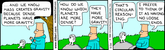 Image result for dilbert circular argument in logic