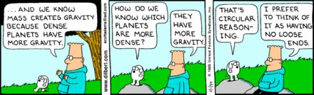 dilbert circular reasoning cartoon