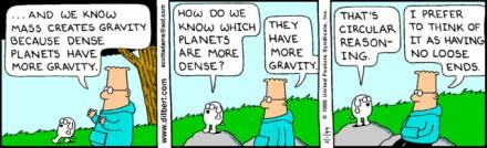 dilbert circular reasoning cartoon
