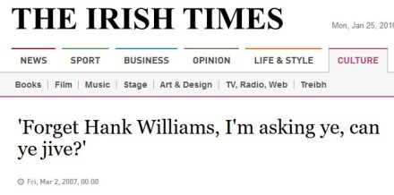 irish times headline - ye