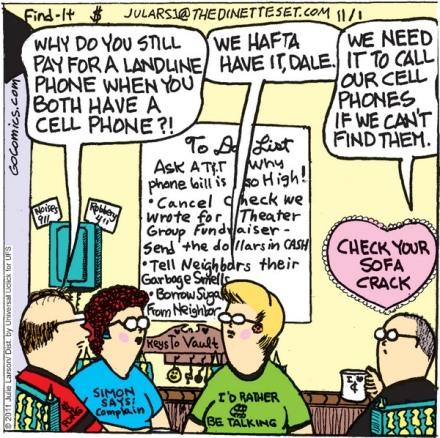 dinetter set comic - landline 1 nov. 2011