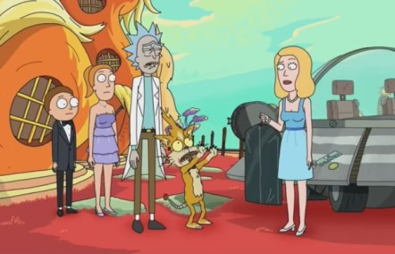 Rick and Morty - The Wedding Squanchers on Planet Squanch - Adult Swim