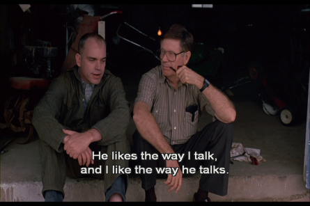 sling blade - he likes the way i talk - billy bob thornton + james hampton
