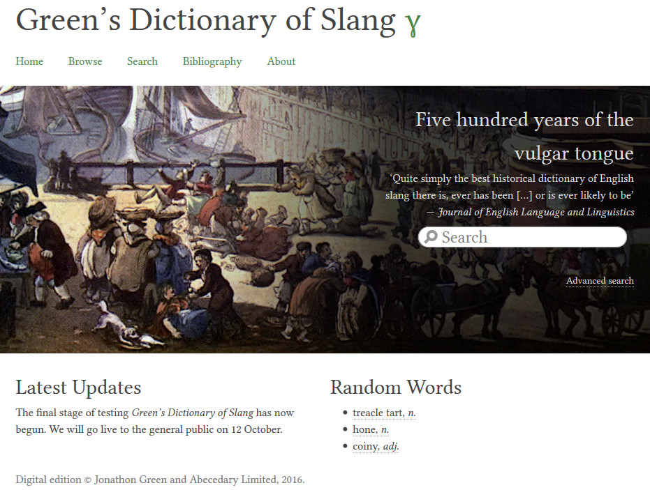 Green's Dictionary of Slang is now available online | Sentence first