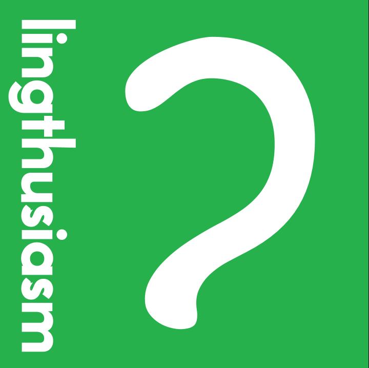 Lingthusiasm: a new podcast about linguistics