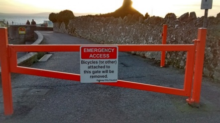 stan-carey-salthill-prom-galway-gate-sign-bicycles