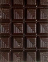 Close-up of a bar of dark chocolate