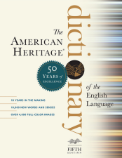 Cover of the American Heritage Dictionary, fifth edition, published by Houghton Mifflin Harcourt.
