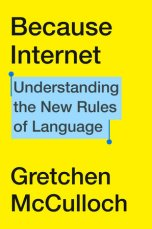Book cover is bright yellow, with text in black. The subtitle is highlighted in blue, with pins bracketing it, like on a phone.