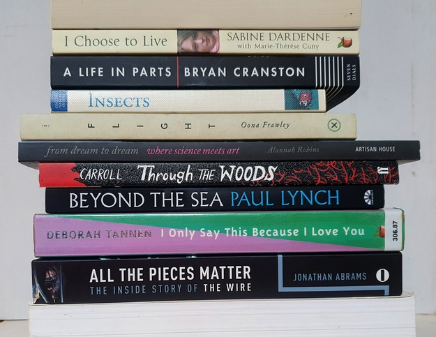 Book spine poem: All the Pieces Matter